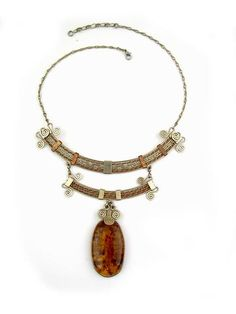 """Wire-wrapped Necklace """"Juliette"""""""