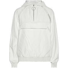 Alexander Wang Hooded textured-leather windbreaker (1.520 BRL) ❤ liked on Polyvore featuring activewear, activewear jackets, jackets, tops, white, alexander wang and alexander wang sportswear