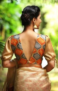 Buy readymade blouse online shopping india has got variety of blouse designs, designer blouses, ready to wear saree blouses. Traditional Blouse Designs, Saree Blouse Neck Designs, Stylish Blouse Design, Fancy Blouse Designs, Saree Jacket Designs Latest, Indian Blouse Designs, Saree Blouse Patterns, Sari Design, Ethnic Design