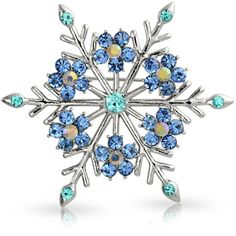Bling Jewelry Blue Snowflakes Pin ($15) ❤ liked on Polyvore featuring jewelry, brooches, accessories, snowflakes, blue, brooches-and-pins, pins brooches, christmas brooch, pin brooch and christmas jewelry