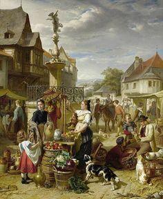 Theodore Gerard (Belgian) - Market Day