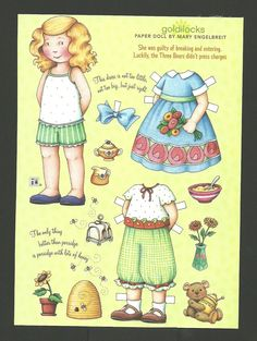 Goldilocks and The Three Bears Paper Doll by Mary Englebreit