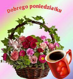 Good Morning, Floral Wreath, Wreaths, Plants, Decor, Dragons, Polish, Pictures, Bom Dia