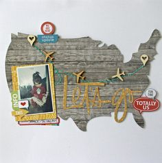 This will be perfect for my trip to SLC and Miliad ID with the hubby. #papercraft #scrapbook #layout. Let's Go by mrschez at @studio_calico
