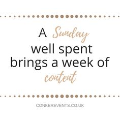 We hope you have a great and relaxing Sunday! Sunday Events, Event Planning Quotes, Conkers, Fundraising, Charity, Wedding Planner, How To Memorize Things, Bring It On, Positivity