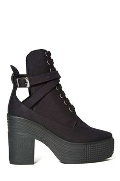 JC Play by Jeffrey Campbell As If Platform Boot - Black