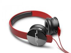 SOL REPUBLIC 1211-03 Tracks On-Ear Interchangeable Headphones with 3-Button Mic and Music Control - Red