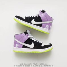 meet fad99 ecbc4 Deadstock Fsr Nike Dunk High Prm Sh Dunk High Classic Sneakers Send Help 2  Keel Purple Black And White