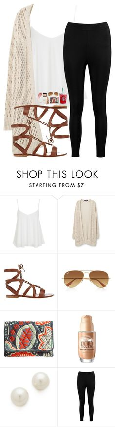 """mall day"" by candicebauer ❤ liked on Polyvore featuring Topshop, Violeta by Mango, Gianvito Rossi, Ray-Ban, Vera Bradley, Maybelline, NARS Cosmetics, Kenneth Jay Lane, DuWop and Boohoo"