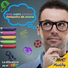 Si tus ideas no se secan ¡tus BIC Marking tampoco!  #LaDiferenciaEsElColor #color #BICMarking #BIC #BICMarkit