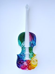 """Beautiful 🌈 with ・・・ 🎼""""To live without my music Would be impossible to do"""" 🎻 Now on my Etsy shop . Quilled Paper Art, Paper Quilling Designs, Quilling Paper Craft, Quilling Ideas, Toilet Paper Roll Crafts, Paper Crafts, Violin Art, Violin Music, Paper Art Design"""
