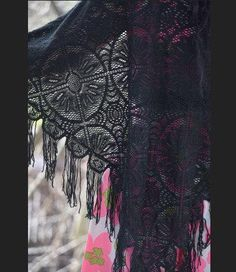Your place to buy and sell all things handmade Magic Secrets, Stevie Nicks, Shawls, Vintage Black, All Things, Gypsy, Kimono Top, Handmade, Stuff To Buy