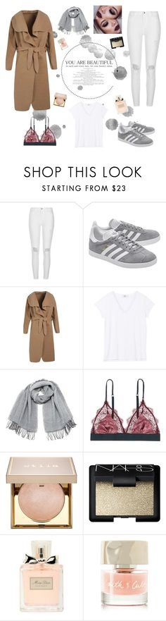 """Untitled #7"" by molldollc ❤ liked on Polyvore featuring River Island, adidas Originals, Boohoo, Vero Moda, LoveStories, Stila, NARS Cosmetics, Christian Dior and Smith & Cult"