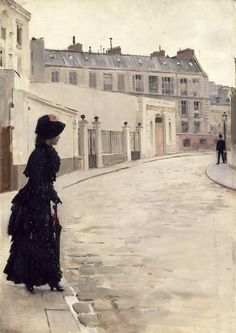 """Jean Béraud, """"L'Attente"""" (1880), http://hyperallergic.com/264313/how-artists-portrayed-prostitution-in-19th-century-paris/"""