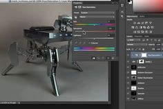 Use multi-pass rendering in Cinema 4D to allow for rapid adjustments in Photoshop with no re-rendering. Render out various image attributes along with object buffers (masks).