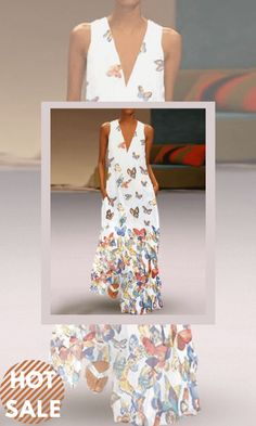 White Oversized Deep V Neck Animal Pattern Chiffon Casual Maxi Dresses on Sale at VEDACHIC, free shipping on orders over $49, register now to get 8% off! #vedachic #maxidresses #bohodresses Boho Style Dresses, Boho Dress, Casual Dresses, Maxi Dresses, Fashion Dresses, Summer Dresses, Fringe Handbags, Chiffon, Tiered Skirts