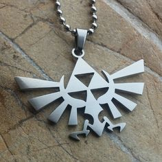 Legend of Zelda - stainless steel pendant on ball chain mens or womens gamer's necklace