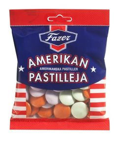 Fazer Amerikan Pastilleja American Pastilles Chocolate Sweets Candy Dragge Bag 150g - http://bestchocolateshop.com/fazer-amerikan-pastilleja-american-pastilles-chocolate-sweets-candy-dragge-bag-150g/
