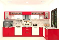 Buy Savate L - Shaped Kitchen with Laminate Finish online in Bangalore. Shop now for modern & contemporary kitchen designs online. COD & EMI available. Kitchen Room Design, Kitchen Paint, Kitchen Tiles, New Kitchen, Kitchen Interior, Kitchen Decor, Kitchen Designs, Kitchen Wood, Loft Kitchen
