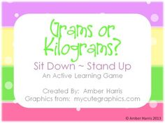 This 20 slide Powerpoint Slideshow offers 2nd, 3rd and 4th grade students with a fun activity to practice the units of metric mass, grams and kilograms. In this slideshow, students decide if a given pictured object should be measured using grams or kilograms..