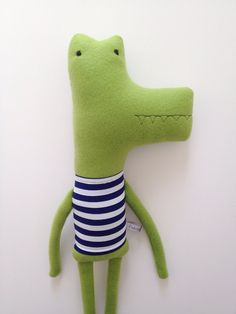 Plush Alligator Friend Finkelstein's Center Handmade