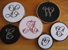 cross stitch embroidery letters - Google Search