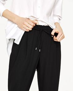 Image 6 of DRAWSTRING TROUSERS from Zara Lounge Slid a77df00350709