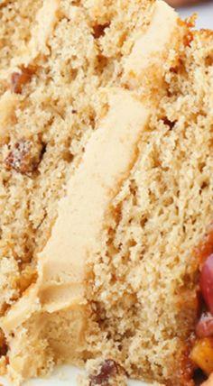 Caramel Apple Pecan Layer Cake