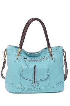 Carla Mancini Woven Handle Shoulder Bag