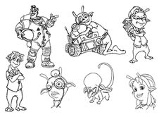 Eckle from Planet 51 coloring pages for kids, printable