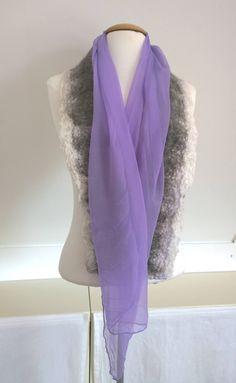 Pure grey - nunofelt silk scarf, grey scarf, felt scarf, Dutch Design OOAK door StudioNamenia op Etsy