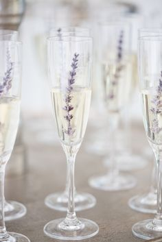 Smoky lavender and lace wedding with vibrant florals of white lavender pink and fuchsia and modern glass geometric shapes. Lace linens and lavender springs in the champagne. Farm Wedding, Dream Wedding, Wedding Happy, Wedding Reception, Lavender Drink, Lavender Cocktail, Lavender Cottage, Lavender Fields, Purple Wedding