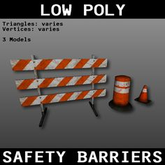 Free Safety Barriers 3D Model - 3D Model