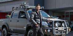 Willie Apiata and the new Toyota Hilux.
