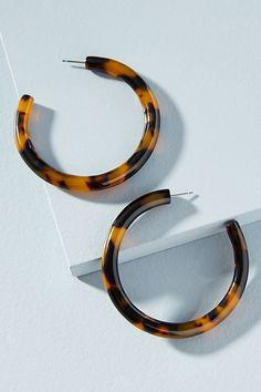 Slide View: 1: Janelle Hoop Earrings