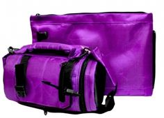 Bright Purple Tefillin Carrier with Tallit bag   4 in stock by aJudaica
