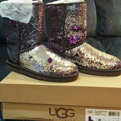Size 8 New Ugg Purple sparkle new in box sparkle new uggs ugg Shoes Winter & Rain Boots