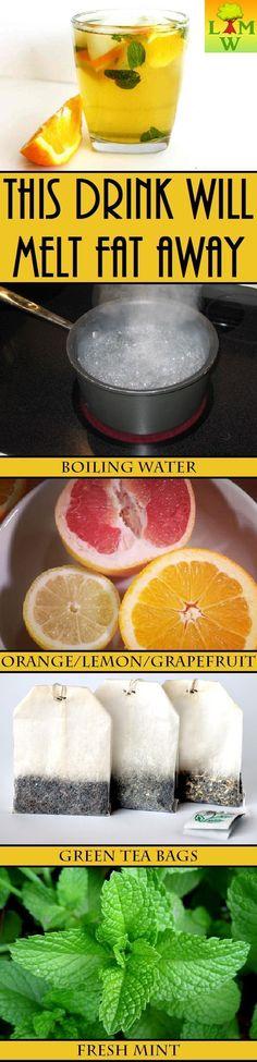 """Citrus, green tea mint """"fat melting"""" healthy drink"""