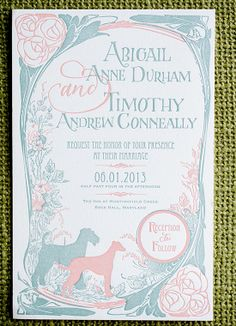 A pastel vintage-inspired #wedding invitation that is too chic for words! | Drew Noel Photography & A Vintage Booth