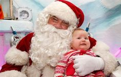 This baby, who is questioning whether this is real or a bad dream: | 22 Kids Who Are Totally Over Taking Their Photo With Santa #christmas