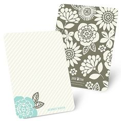 From Stripes to Flowers - Personalized Note Cards