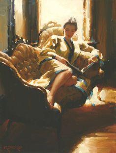 Craig Srebnik Reading Art, Girl Reading, Reading Books, Books To Read For Women, Library Art, Smart Art, Letter Art, Figure Painting, American Artists