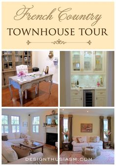 House tour featuring a French Country townhouse | Adding French character to a new home | #Designthusiasm