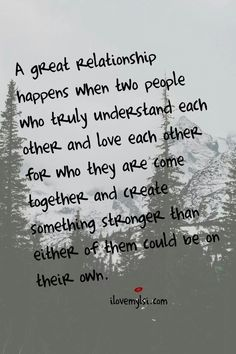 A Great Relationship ♡