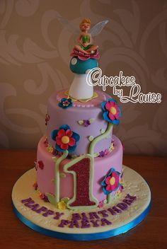 2 tier Tinkerbell birthday cake | Flickr - Photo Sharing!