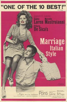 Marriage Italian Style - much more dramatic than funny, and incredible