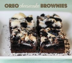 Oreo Cheesecake Brownies // Blissfully Blessed