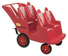 AN-AFB6300F 4 PASSENGER BYE-BYE BABY BUGGY¨ NEVER FLAT FAT TIRE*