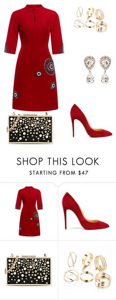 """""""Untitled #243"""" by jadajenkins97 ❤ liked on Polyvore featuring Christian Louboutin, Karl Lagerfeld and Dolce&Gabbana"""