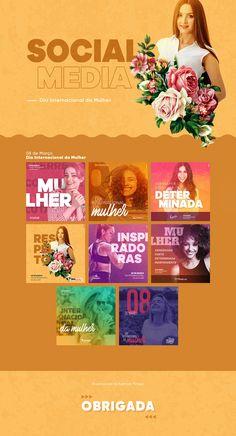 Social Media - Dia Internacional da Mulher on Behance Social Media Bar, Social Media Detox, Social Media Branding, Social Media Design, Social Media Graphics, Social Media Marketing, Marketing News, Dia Do Designer, Tips Instagram